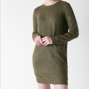 Forever 21 Olive Green sweater dress